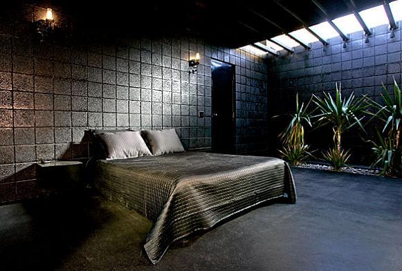 all black bedroom interior design interior decorating What Happens When a Punk Rocker Designs a Desert Home?