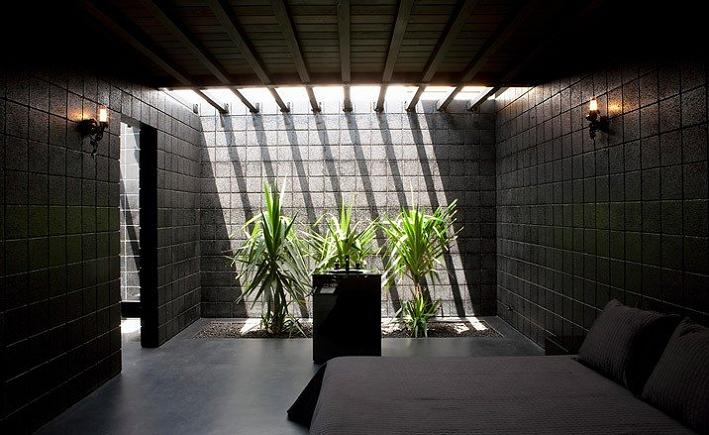 all black color pallette interior decorating What Happens When a Punk Rocker Designs a Desert Home?