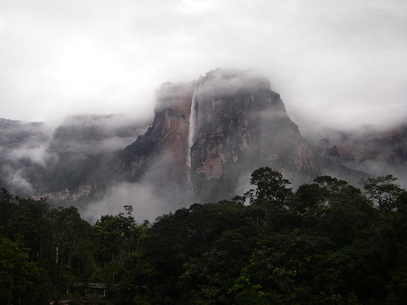 angel falls from distance The Highest Waterfall in the World