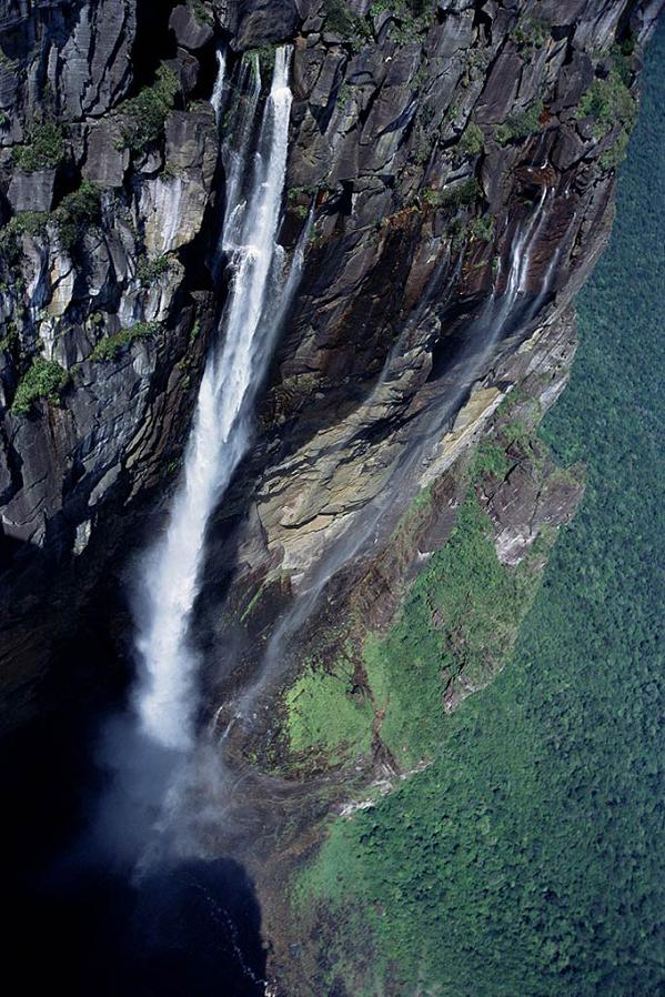 angel falls view from the top looking down The Highest Waterfall in the World