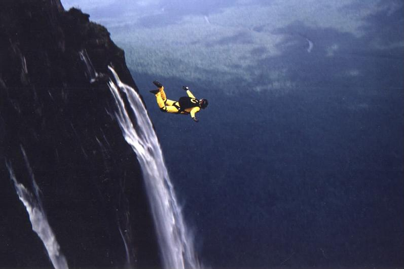 base jumping angel falls base jump The Highest Waterfall in the World
