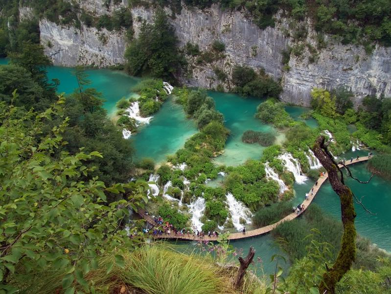 beautiful green blue water plitvice lakes national park croatia The Most Popular Tourist Attraction in Croatia