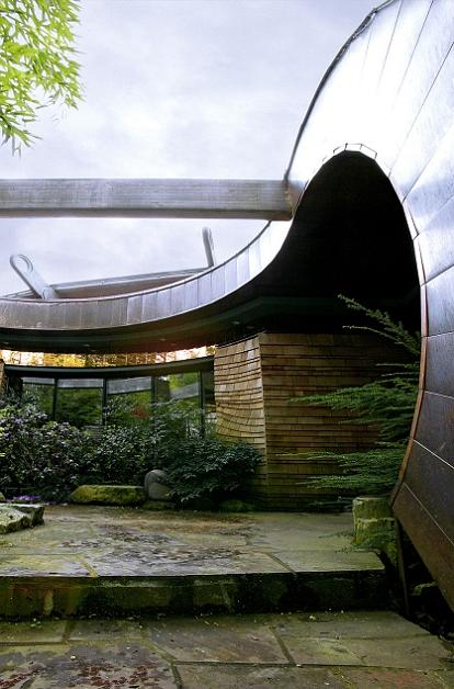 curved copper roof design oshatz wilkinson Canopy Living: The Ultimate Tree House