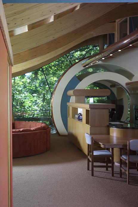 curved roof rooms design tree house Canopy Living: The Ultimate Tree House