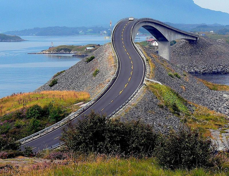 curvy bridge atlantic road norway Picture of the Day   Get Your Swerve On