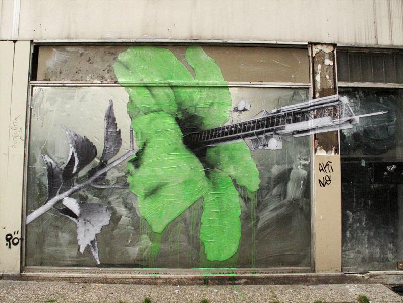 flyposting street art by ludo natures revenge THE WAR IS ON: Natures Revenge by Ludo