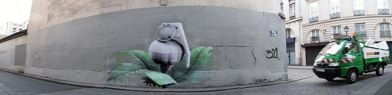 grenade flower graffiti street art ludo THE WAR IS ON: Natures Revenge by Ludo