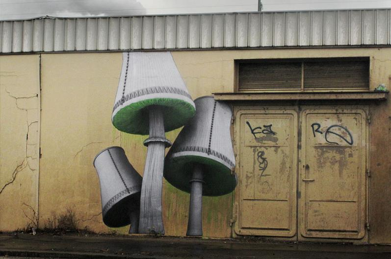 mushroom street art graffiti ludo natures revenge THE WAR IS ON: Natures Revenge by Ludo
