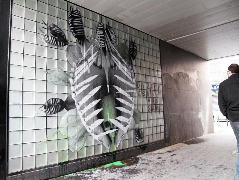 natures revenge street art ludo france THE WAR IS ON: Natures Revenge by Ludo