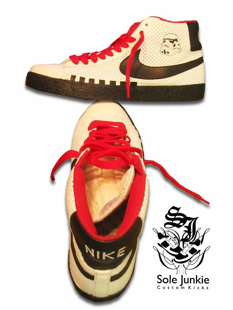 nike blazers stormtrooper by sole junkie Stormtrooper Inspired Art and Design