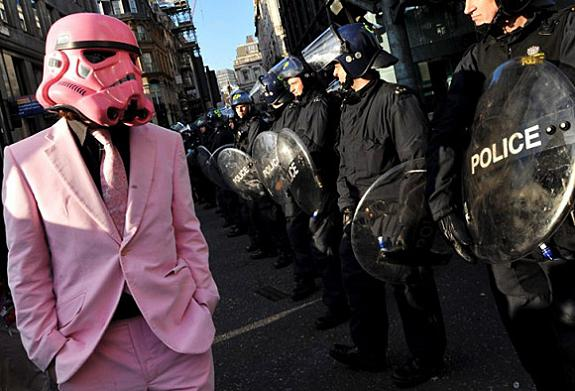 pink stormtrooper protestor Stormtrooper Inspired Art and Design