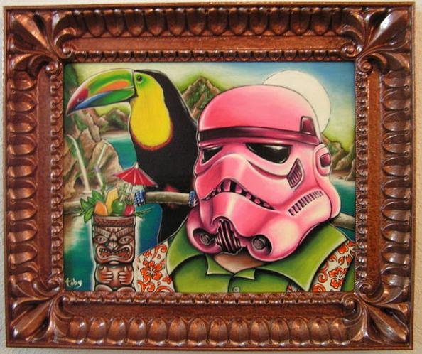 pink team stormtrooper art hawaiian theme toby sasquatch Stormtrooper Inspired Art and Design