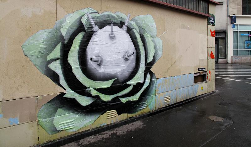 plant bomb nautres revenge ludo street art THE WAR IS ON: Natures Revenge by Ludo