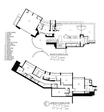 robert harvey oshatz wilkinson residence floor plan Canopy Living: The Ultimate Tree House