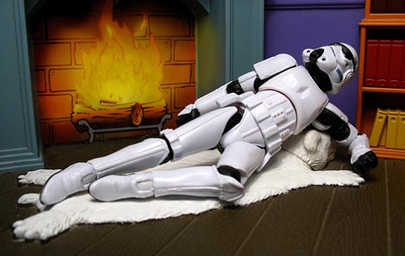 sexy stormtrooper pose fire fure Stormtrooper Inspired Art and Design