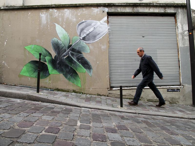 street art wheatpaste by ludo natures revenge THE WAR IS ON: Natures Revenge by Ludo