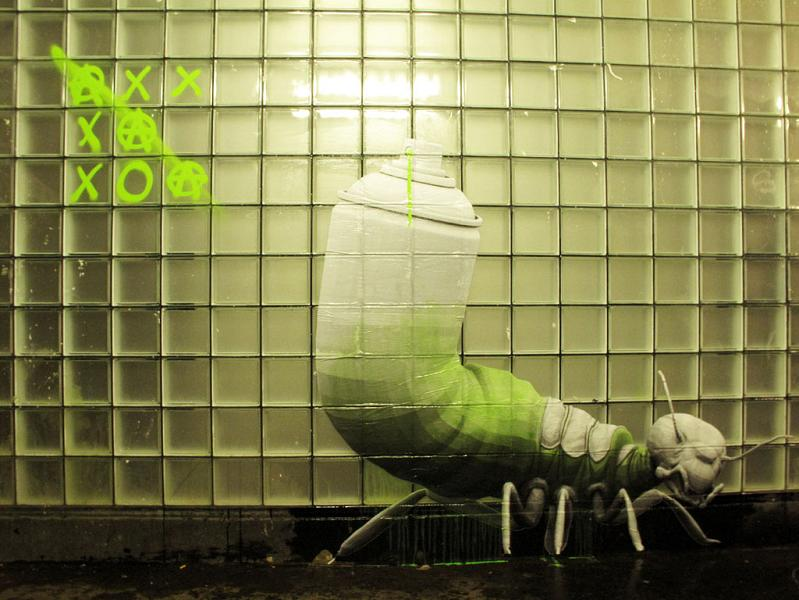 street poster art wheatpaste by ludo THE WAR IS ON: Natures Revenge by Ludo