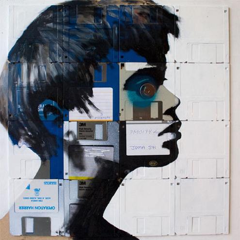 algorithmblues disk art nick gentry A Trip Down Memory Lane: Floppy Disk Art by Nick Gentry