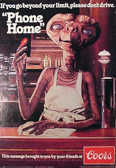 et phone home vintage coors beer ad This Bowl is Pho Clever!