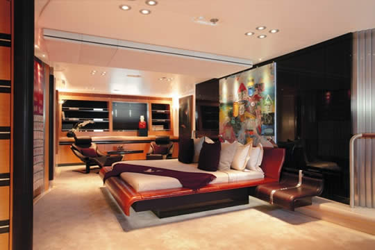 luxury yacht bedroom Maltese Falcon: Third Largest Sailing Yacht in the World
