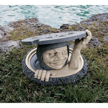Superb Man In Sewer Manhole Garden Sculpture Lawn Ornament 13 Utterly Ridiculous  Lawn Ornaments
