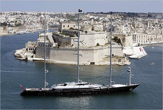 mega yacht in greece maltese falcon Maltese Falcon: Third Largest Sailing Yacht in the World