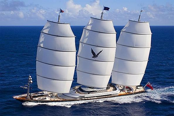 Most Luxurious Super Yacht Maltese Falcon Third Largest Sailing In The World