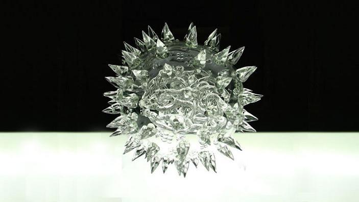 virus made out of glass luke jerram glass microbiology The Deadliest Art in the World