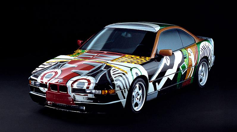 bmw art car david hockney 1995 The Evolution of the BMW Art Car