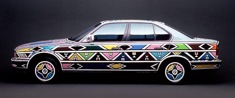 bmw art car esther mahlangu 1991 The Evolution of the BMW Art Car
