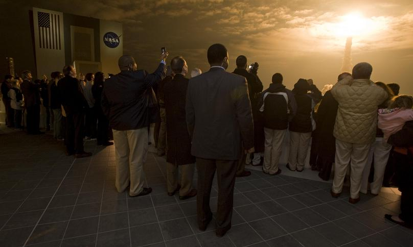 final nasa space launch at night feb 8 2010 Picture of the Day   February 9, 2010