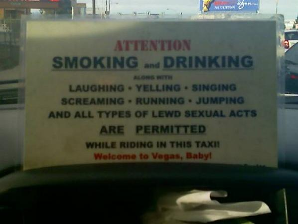 las vegas cab taxi sign Picture of the Day   February 11, 2010