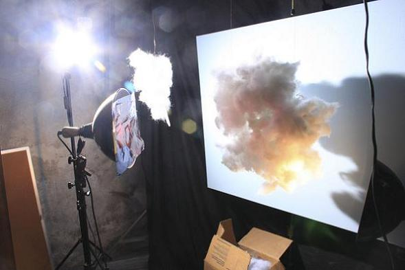 mathhew albanese making clouds for forced perspective shoot How to Make Small Scale Super Realistic Model Landscapes