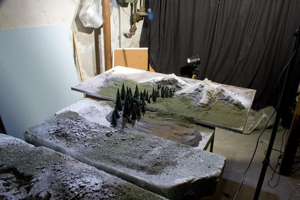 how to build a miniature landscapes model
