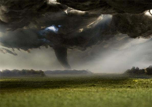 miniature model tornado forced perspective photography matthew albanese Branching Out: Tree Art by Naoko Ito
