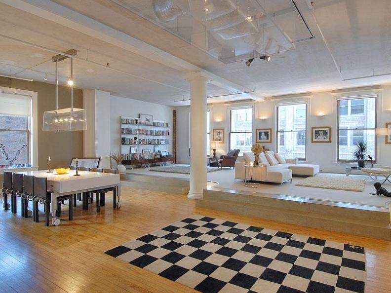 open concept loft condo 158 mercer new museum building soho nyc Want to See a Lamborghini in a Living Room?