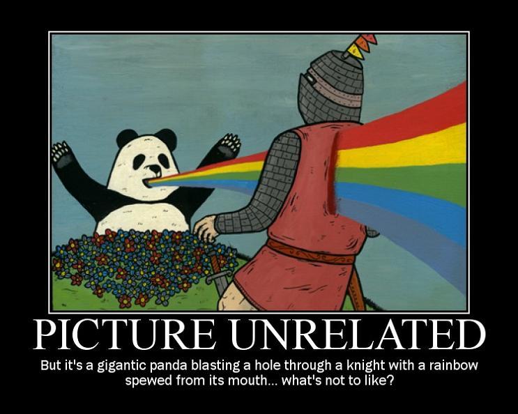 panda rainbow motivational poster 11 Reasons why the Bronze goes to... Pandas!