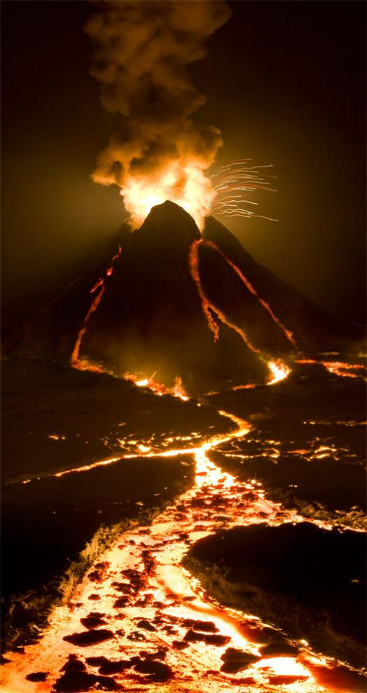 volcano model forced perspective by matthew albanese How to Make Small Scale Super Realistic Model Landscapes