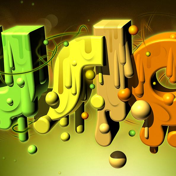 3d dripping font by markie darkie Tremendous Typography by Markie Darkie