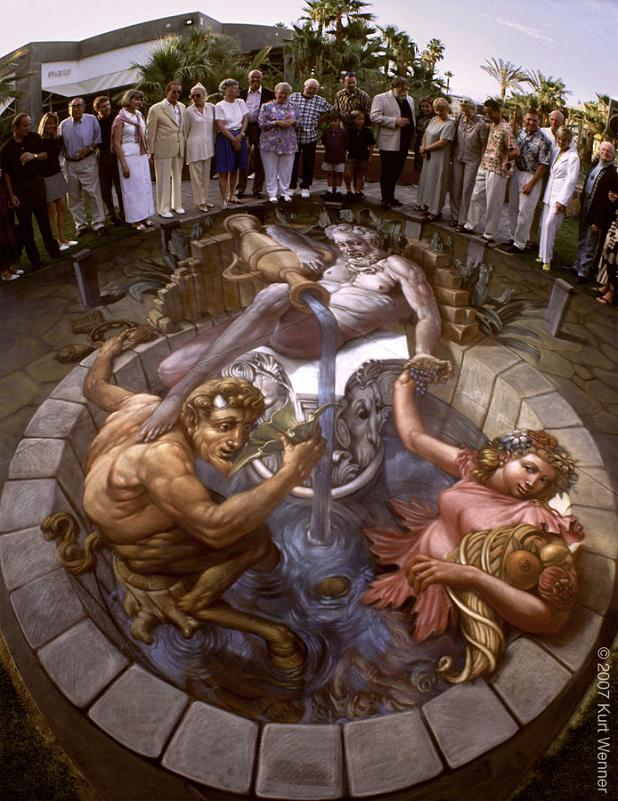 3d illusionistic street art The Inventor and Master of 3D Sidewalk Chalk Art   Kurt Wenner