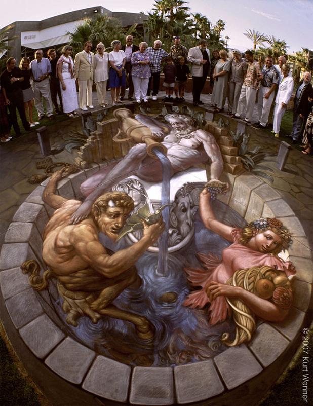 3d illusionistic street art The Inventor and Master of 3D Sidewalk Chalk Art   Kurt Wenner