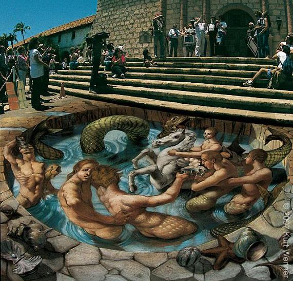3d pavement art with chalk kurt wenner The Inventor and Master of 3D Sidewalk Chalk Art   Kurt Wenner