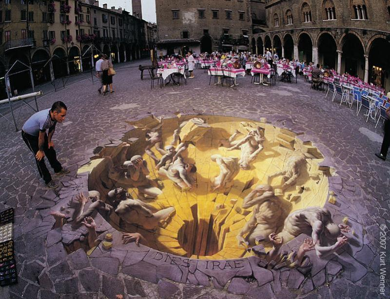 3d sidewalk art kurt wenner The Inventor and Master of 3D Sidewalk Chalk Art   Kurt Wenner