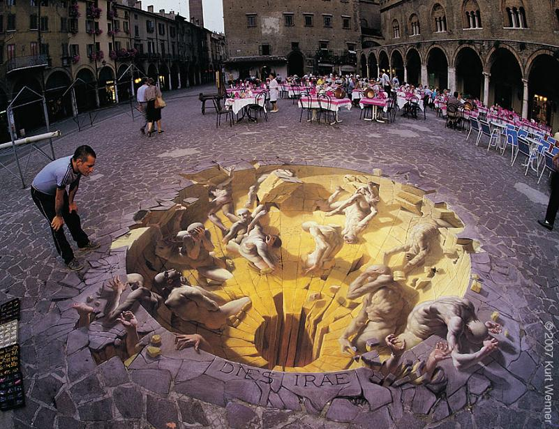3d sidewalk art kurt wenner Trompe Loeil: Incredible 3D Wall Art by John Pugh