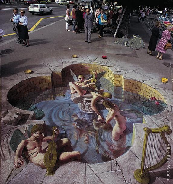 3d sidewalk chalk art kurt wenner The Inventor and Master of 3D Sidewalk Chalk Art   Kurt Wenner