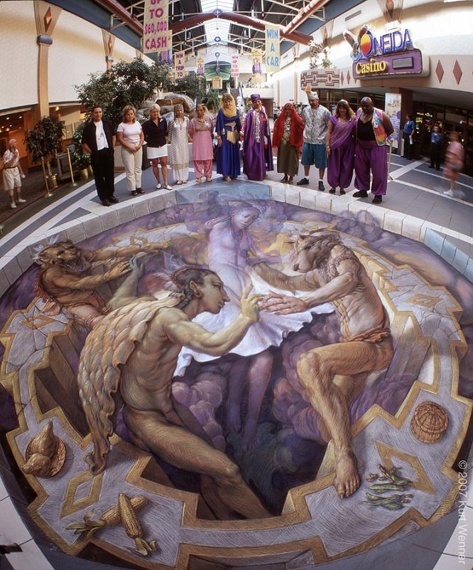 3d sidewalk street art The Inventor and Master of 3D Sidewalk Chalk Art   Kurt Wenner