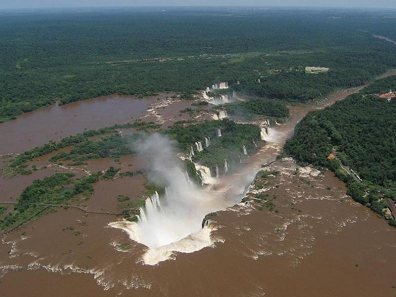 amazing-muddy-waterfalls-iguazu-aerial