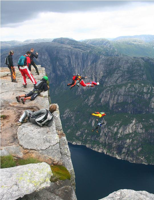 base jumping off kjerag mountain norway The Stunning Cliffs of Norway