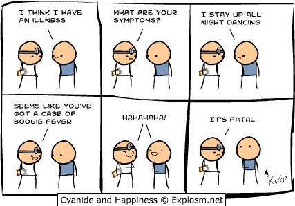 Think, that Cyanide comic strip your