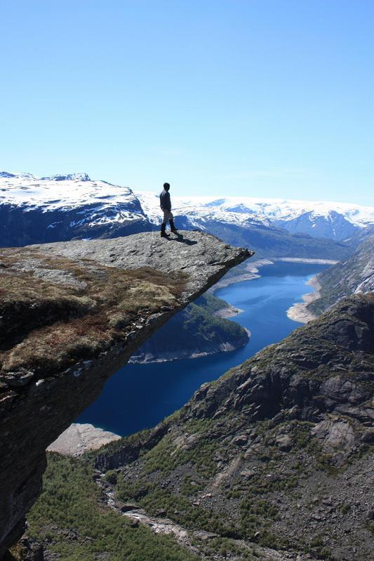 craziest overhang ever trolltunga The Stunning Cliffs of Norway